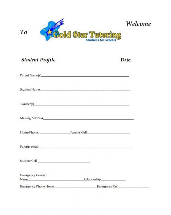 Gold Star Tutoring Student Application